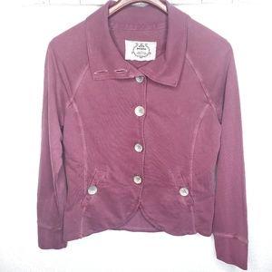 Prana Mauve Lightweight Big Button Jacket Large